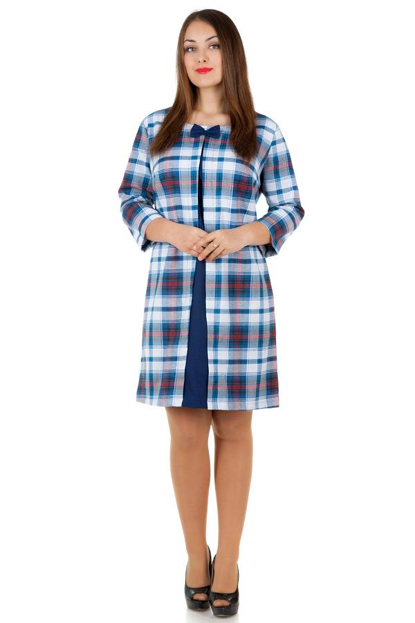 Платье БР Ronny Темно-синий+Белый