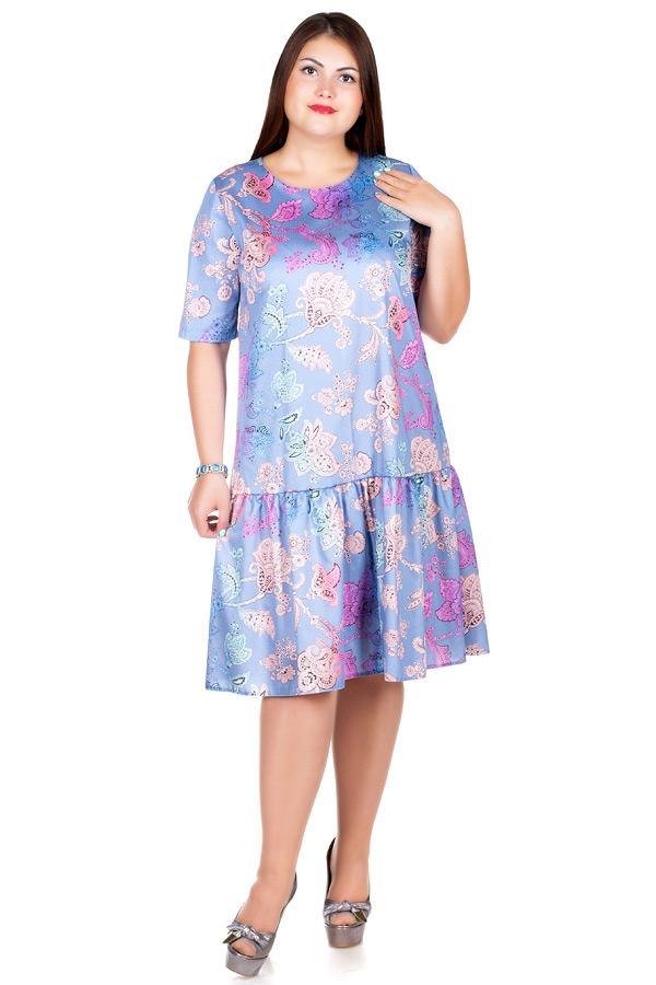 Платье БР Gabriella Огурцы на синем