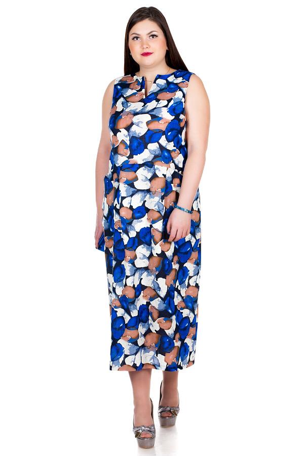 Платье БР Jerry Листья Синие
