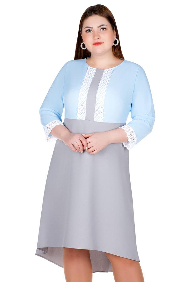 Платье БР Toska Голубой+серый