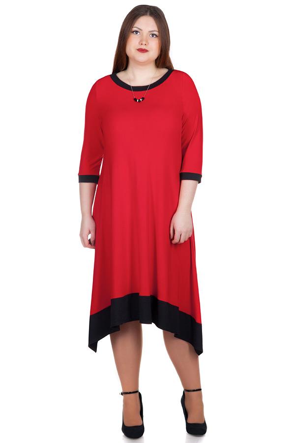 Платье БР Lera Красный+черный