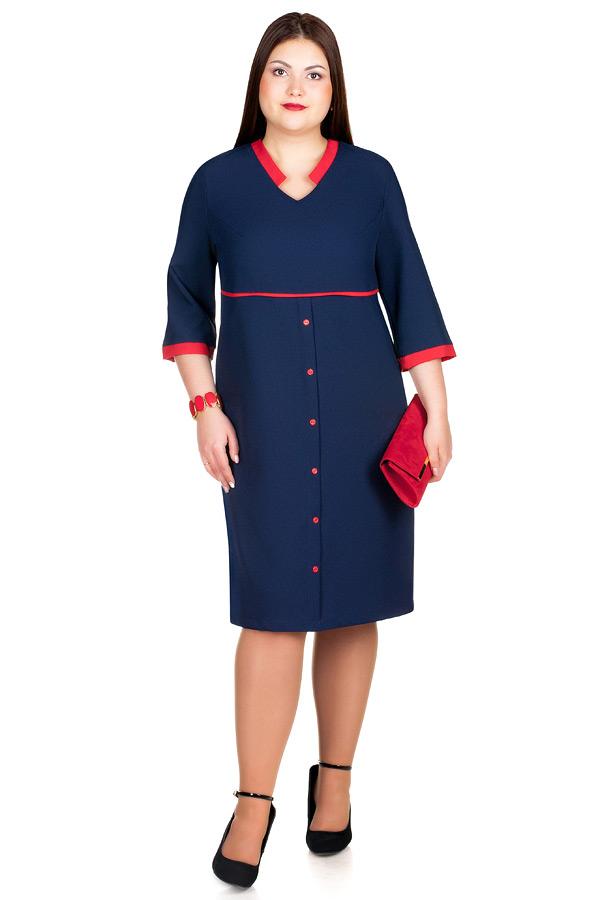 Платье БР Iolanta Темно-синий+Красный