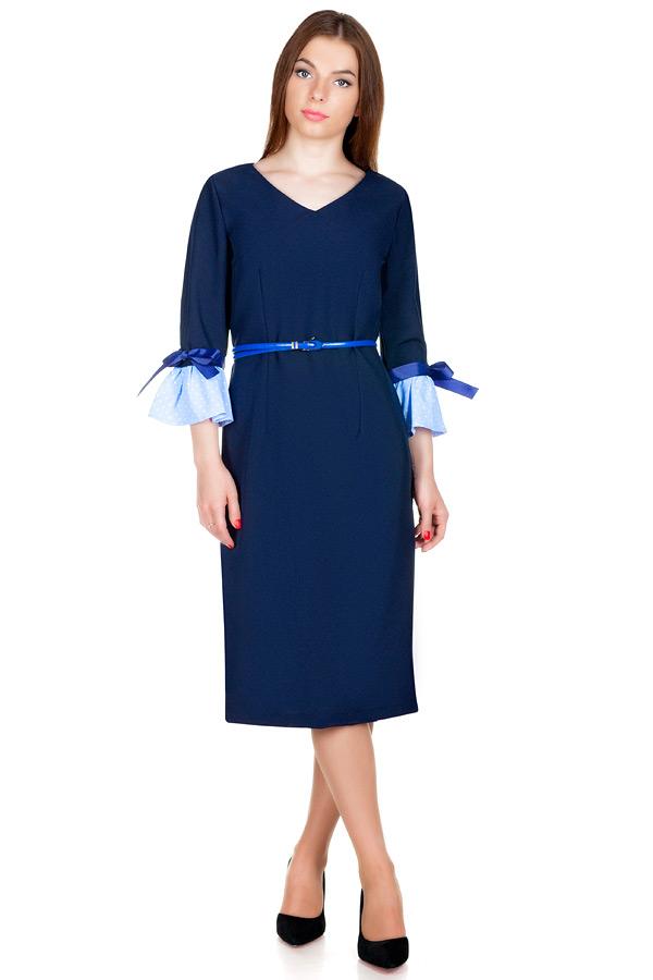 Платье МР Guliana Темно-синий+Горошек