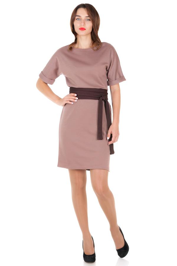 Платье Ester 2 Светло-коричневый+Коричневый
