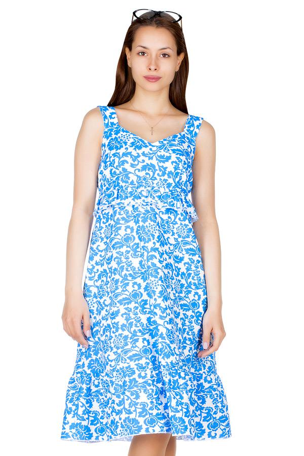 Платье МР Lula Завитки синие