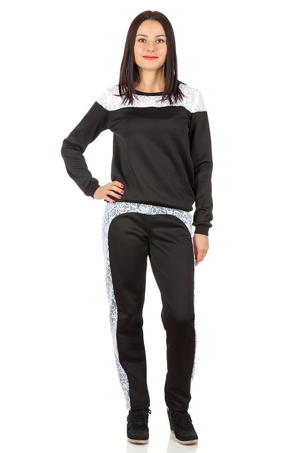 Комплект Кружевные вставки Черный+белый