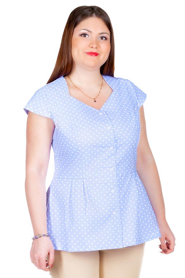 Блуза БР Lada Сиренево-голубой