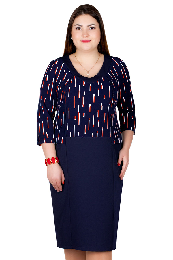 Платье БР Nereida Темно-синий+красный