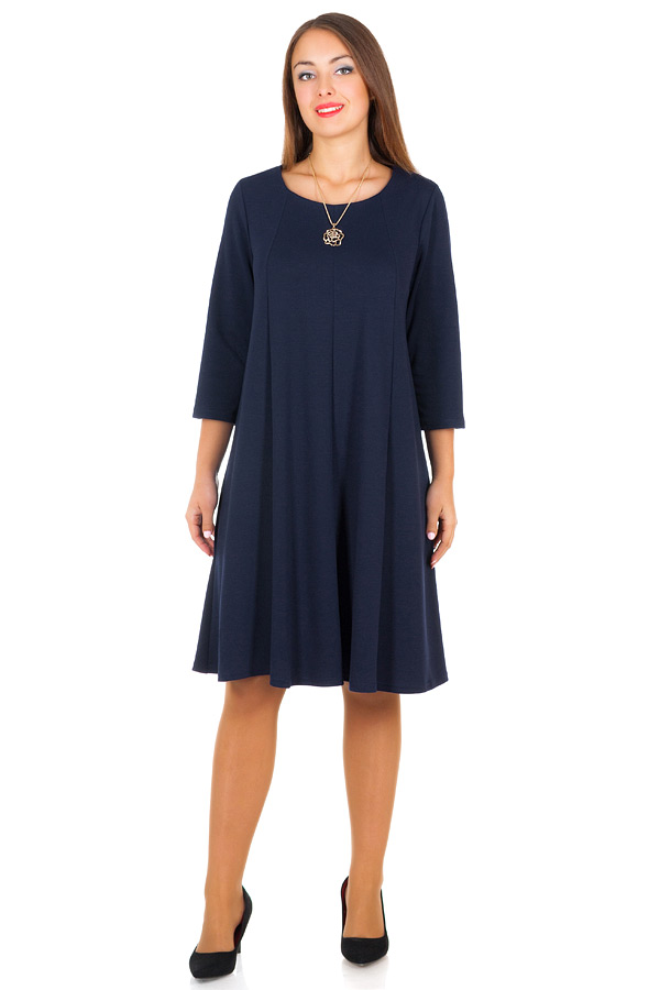 Платье БР Трапеция Темно-синий