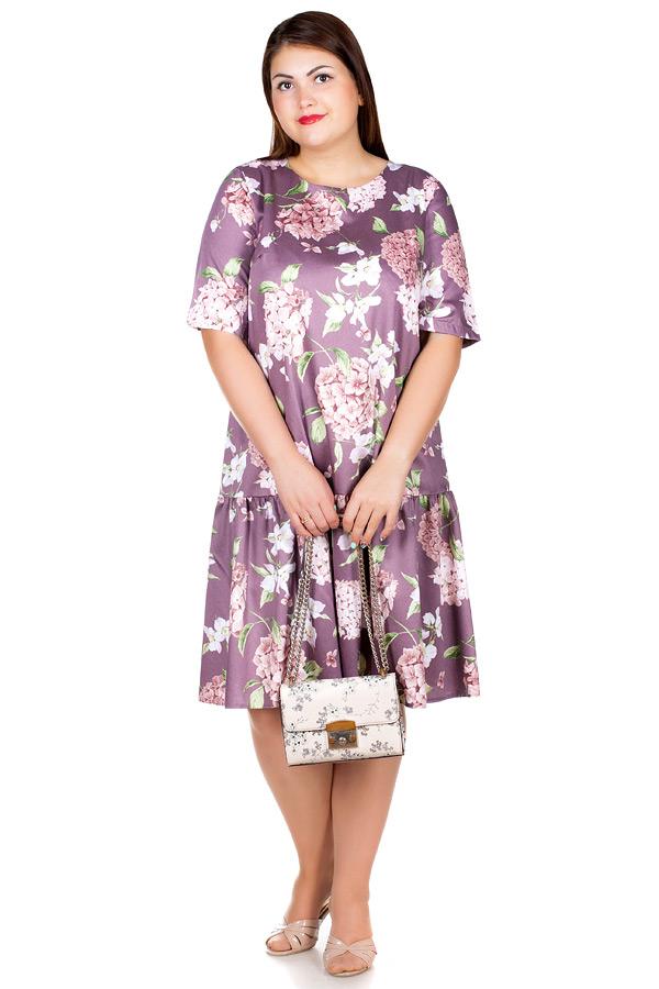 Платье БР Gabriella Гортензия на бежево-сиреневом