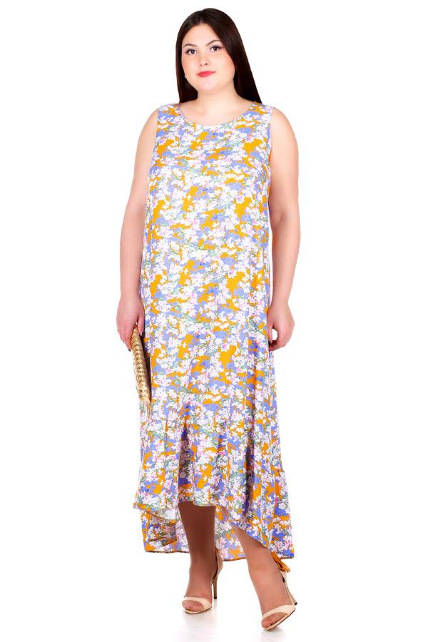 Платье БР Larson Сирень на желтом