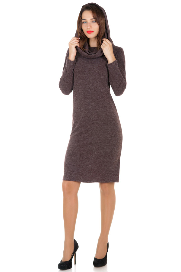 Платье Selena Корчневый меланж