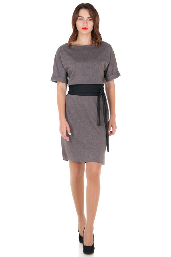 Платье Ester 2 Серый меланж+Черный