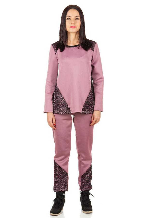 Комплект Кружевные вставки 2 Розовый+черный