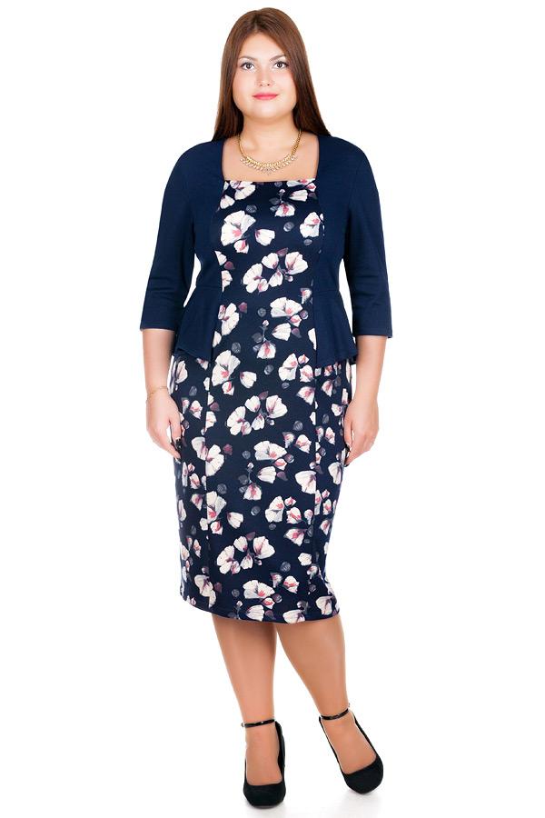 Платье БР Dina Темно-синий