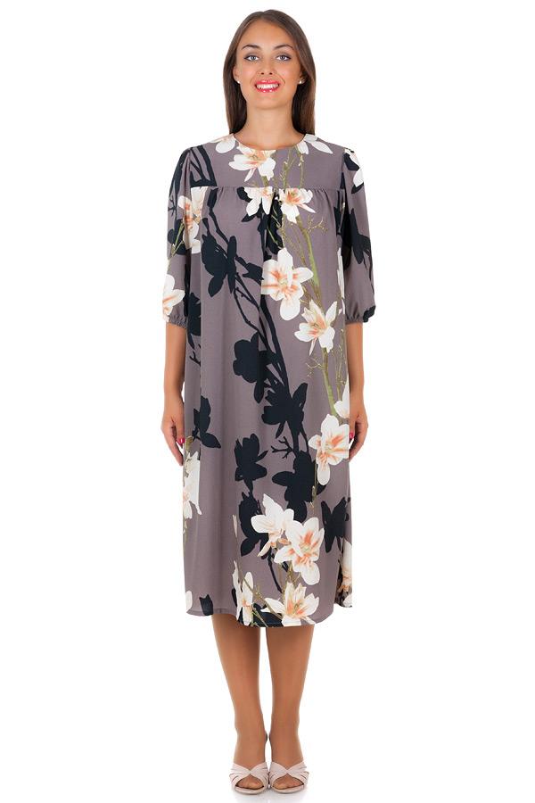 Платье БР Rose Ирисы на сером