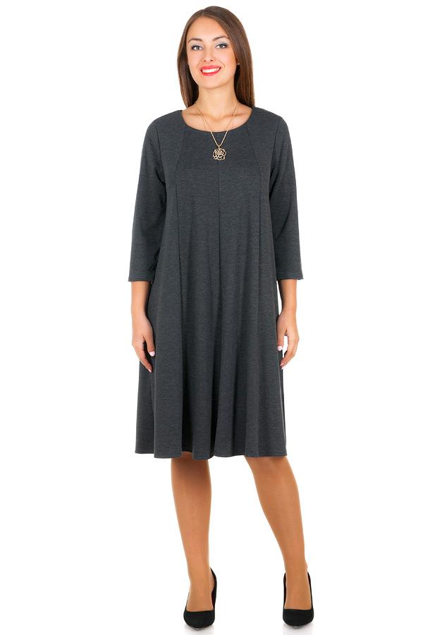 Платье БР Трапеция Серый