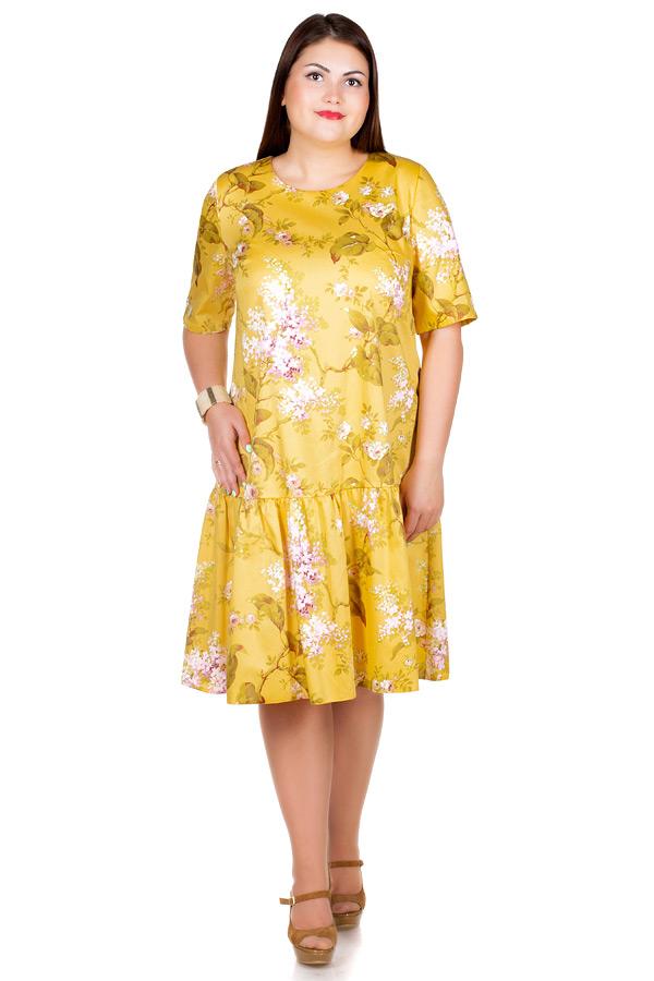 Платье БР Gabriella Сирень на желтом
