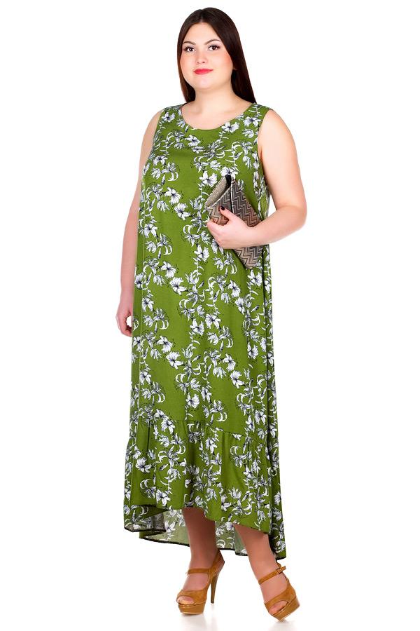 Платье БР Larson Лилии на зеленом