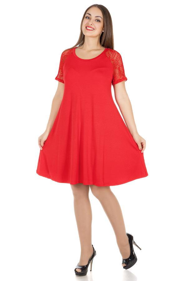 Платье БР Трапеция-реглан Красный