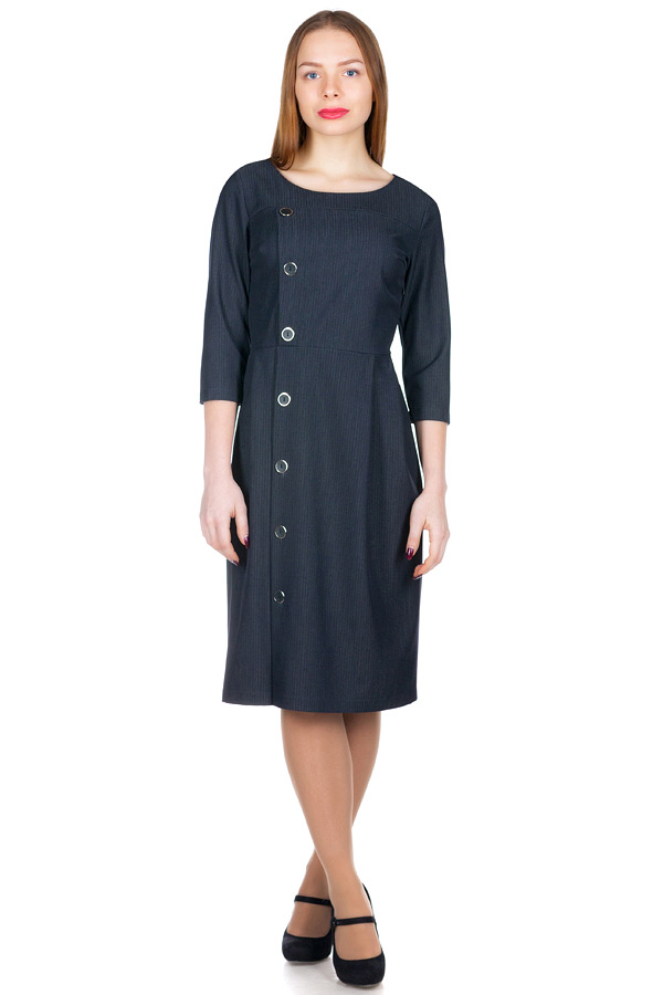 Платье МР Agnetta Серо-синий