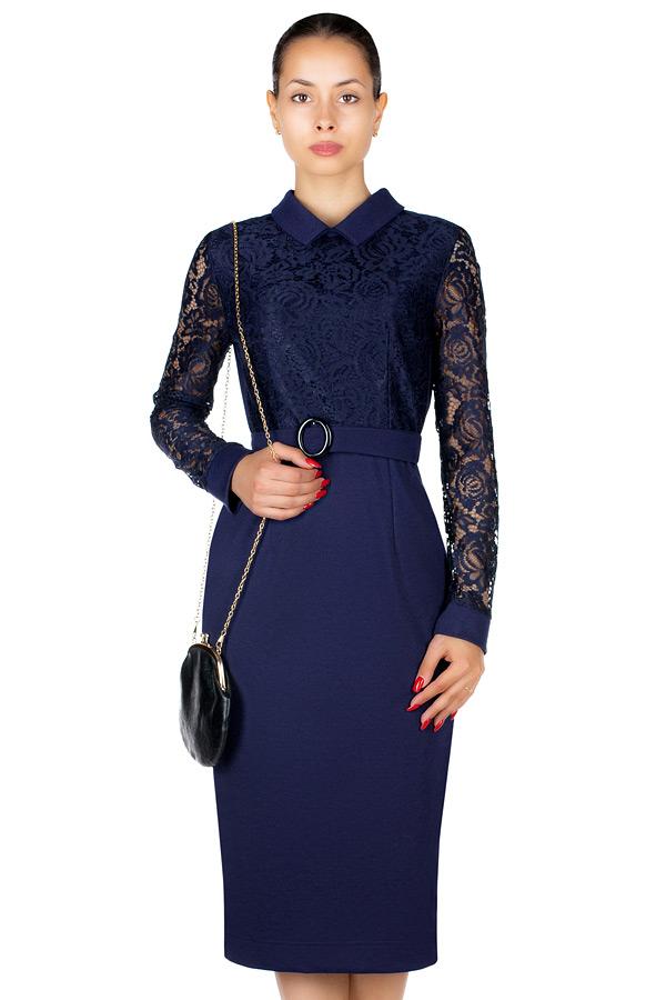 Платье МР Floretta Темно-синий