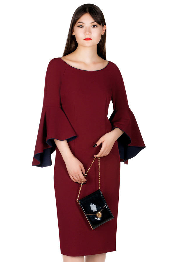 Платье МР Livia Бордо + темно-синий