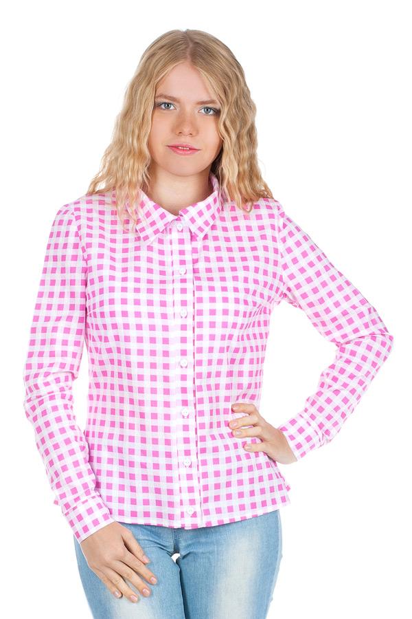 Рубашка длинный рукав Розовый