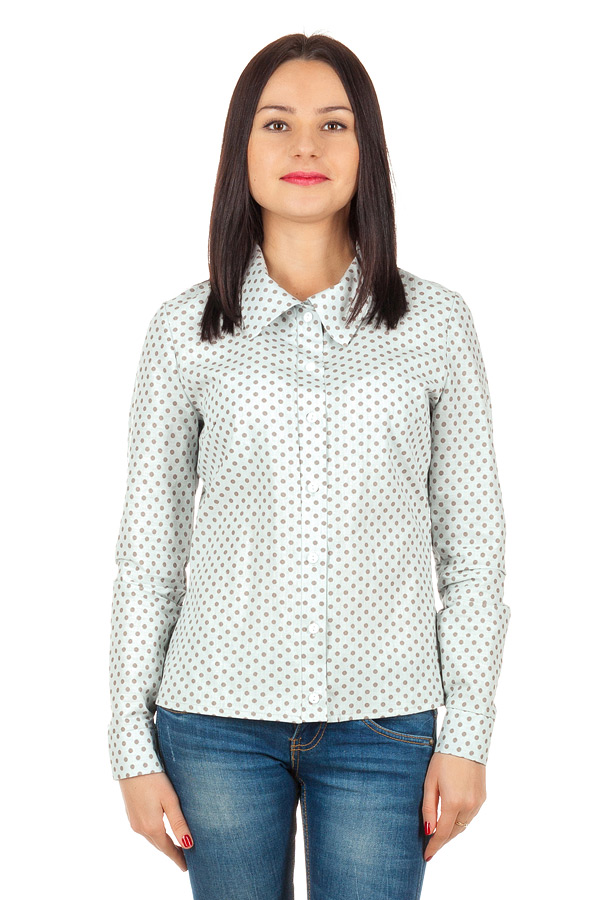 Рубашка длинный рукав Светло-серый
