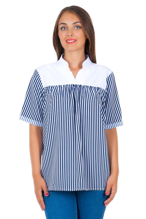 Блуза БР Janice Белый+полоска