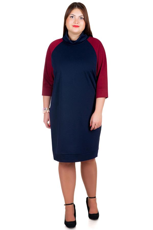Платье БР Ninel Темно-синий+Бордо