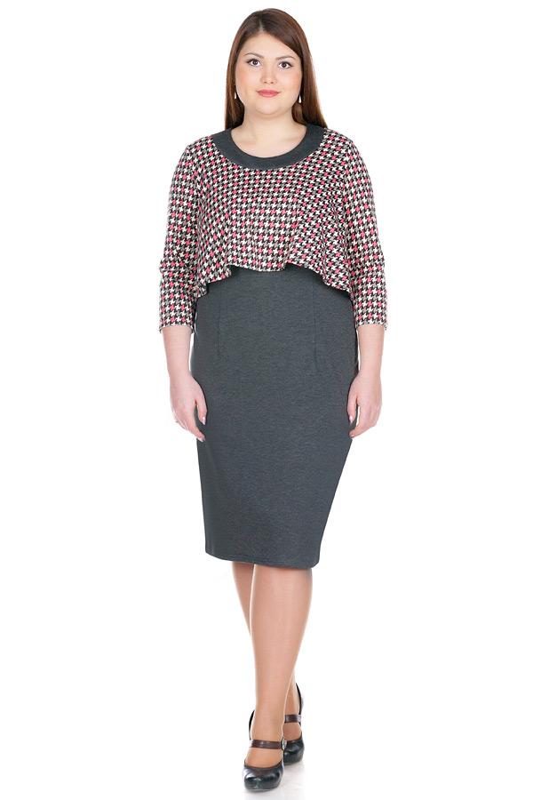 Платье БР Sherry Гусиная лапка+Серый