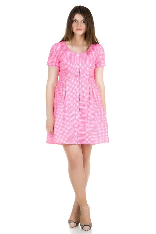 Платье-рубашка БР Розовый