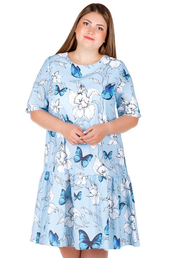 Платье БР Gabriella2 Бабочки на голубом