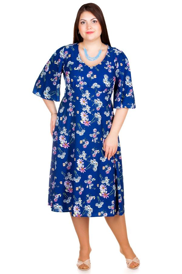 Платье БР Yuna Ромашки на синем