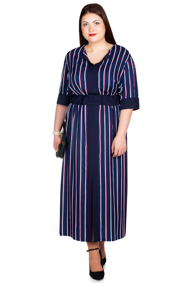 Платье БР Dinara Темно-синий+Бордо