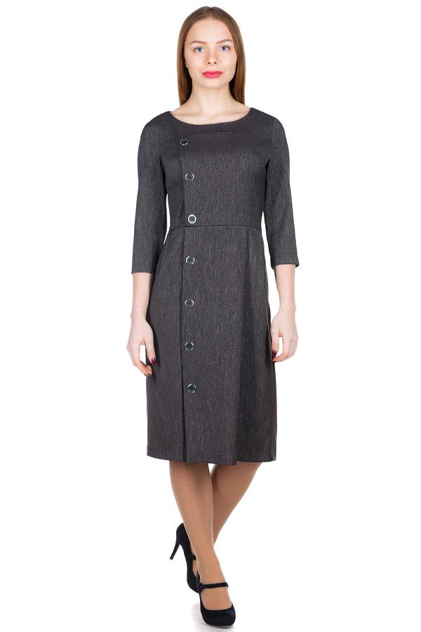 Платье МР Agnetta Серо-черный