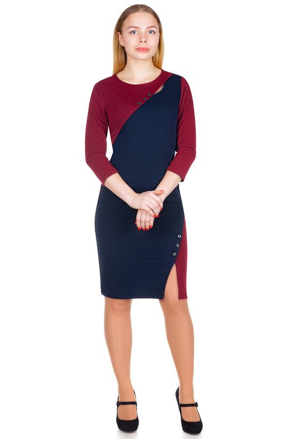Платье МР Avita Бордо+Темно-синий