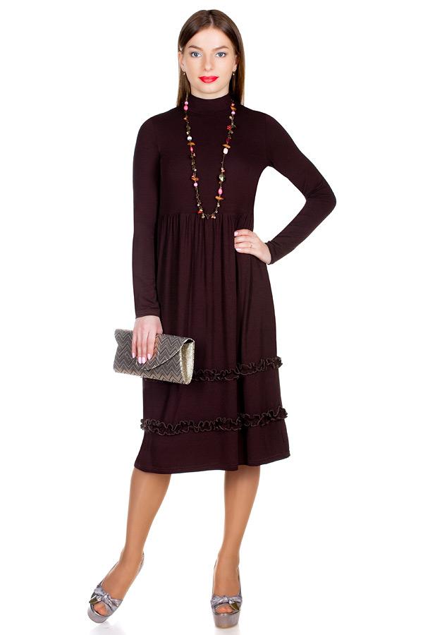 Платье МР Roza Темно-коричневый