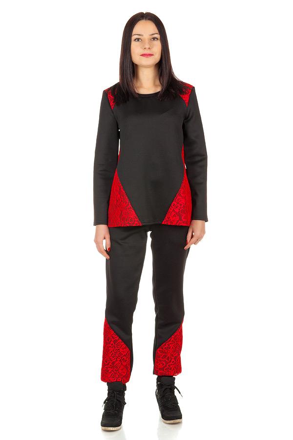 Комплект Кружевные вставки 2 Черный+красный