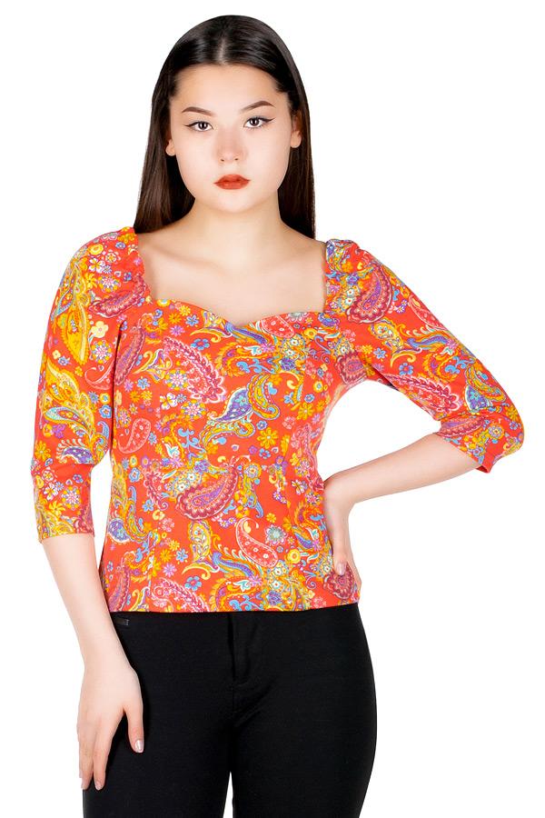 Блуза МР Nisa Коралловые огурцы