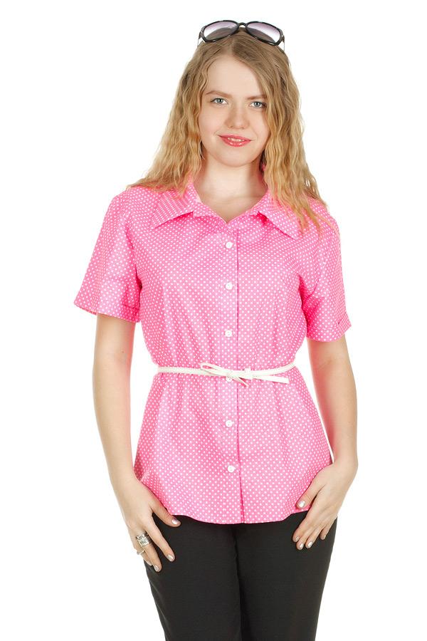 Рубашка свободная Розовый горох