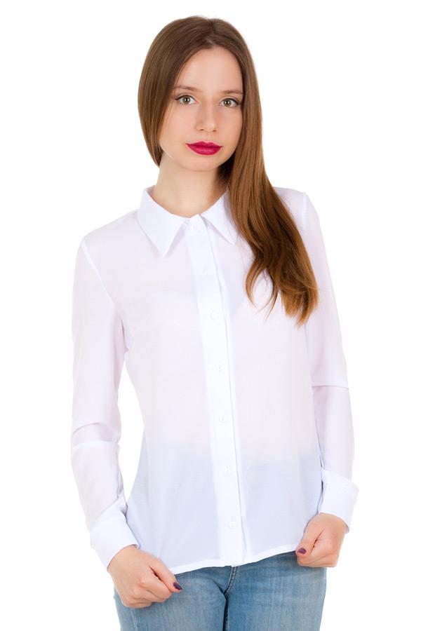 Рубашка длинный рукав Однотон Белый