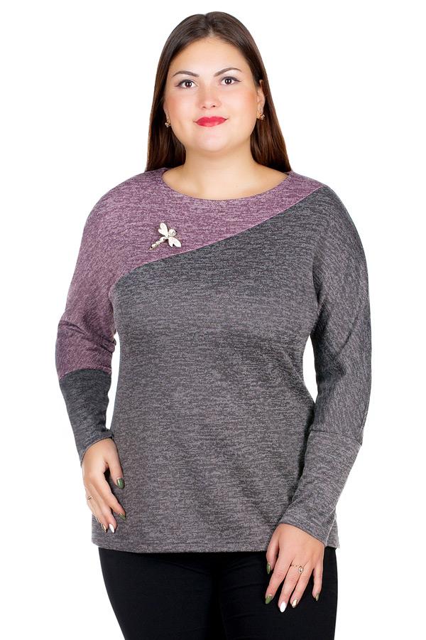 Блузка БР Aleksandra Роза+светло-коричневый