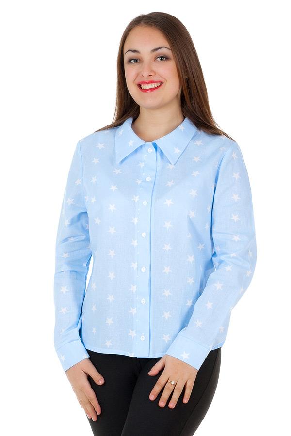 Рубашка БР Принт Звезды малые Голубой