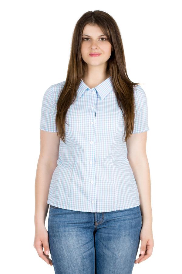Рубашка Короткий рукав Голубой