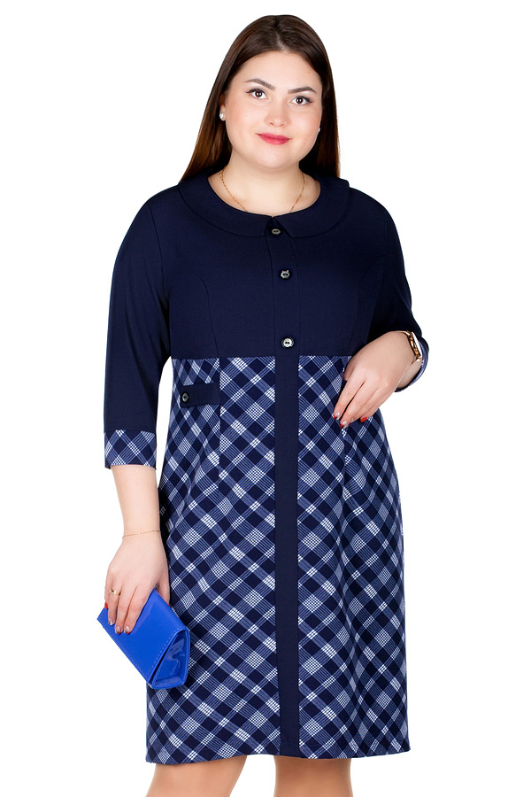 Платье БР Uma Темно-синий