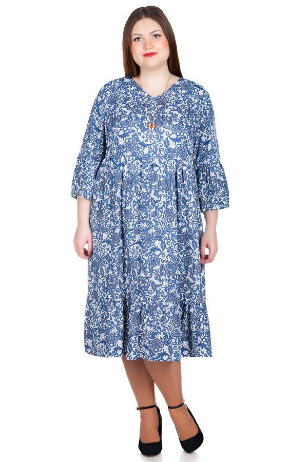 Платье БР Monga Белый+синий