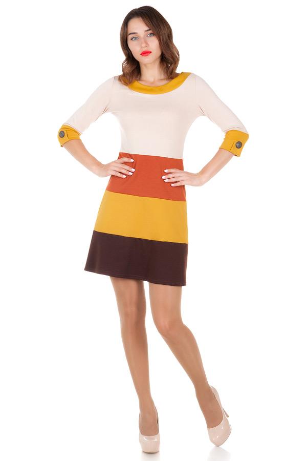 Платье Polly Горчица
