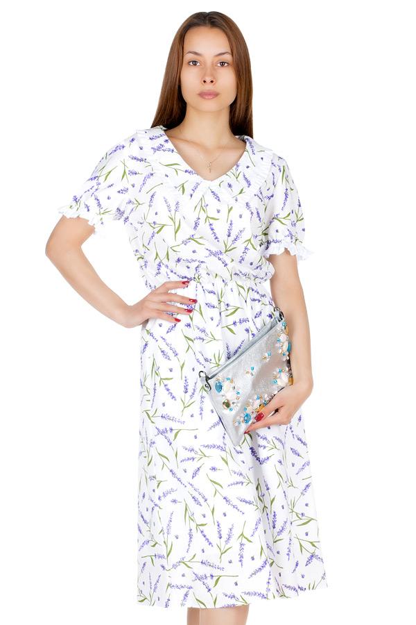 Платье МР Ulla Лаванда на белом